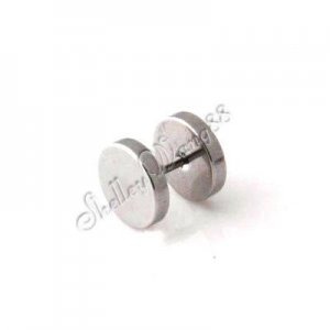 2x New Mens Earring Ear Stud Stainless Steel 14mm YL122-14