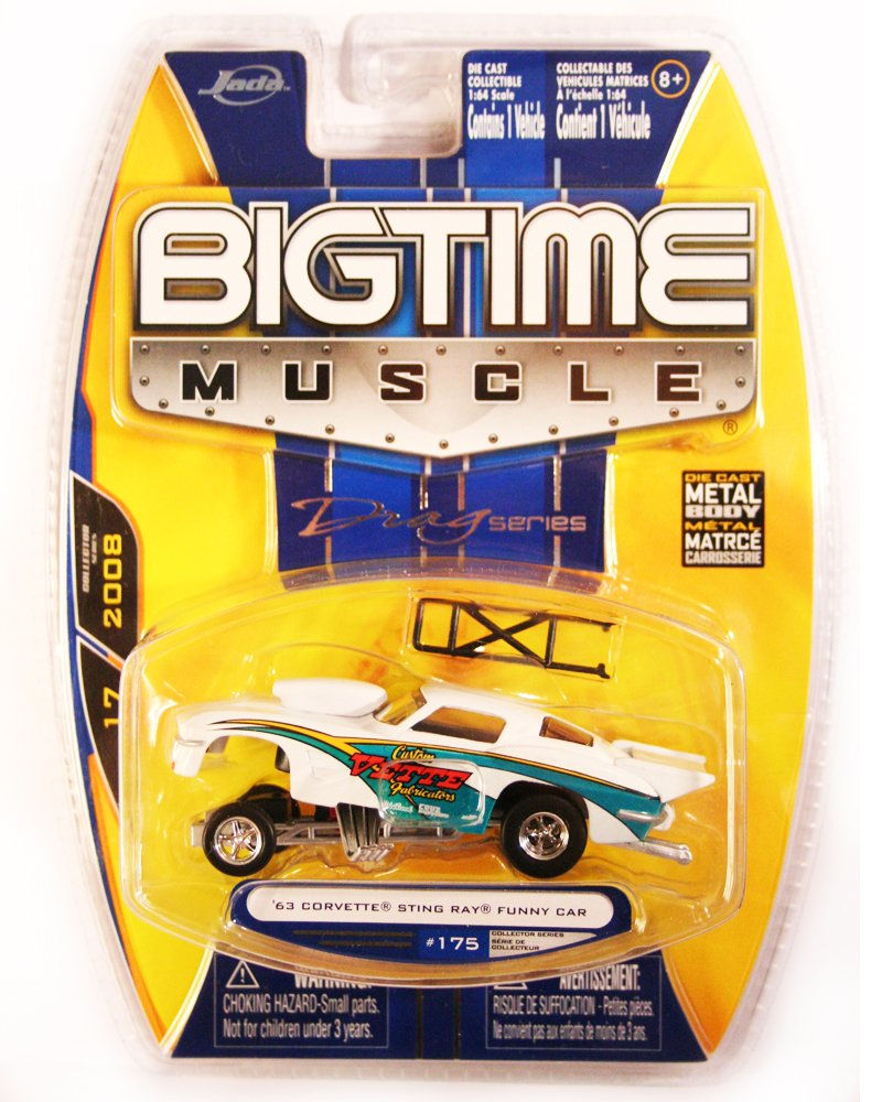 Jada BigTime Muscle 1963 Corvette Sting Ray Funny Car White