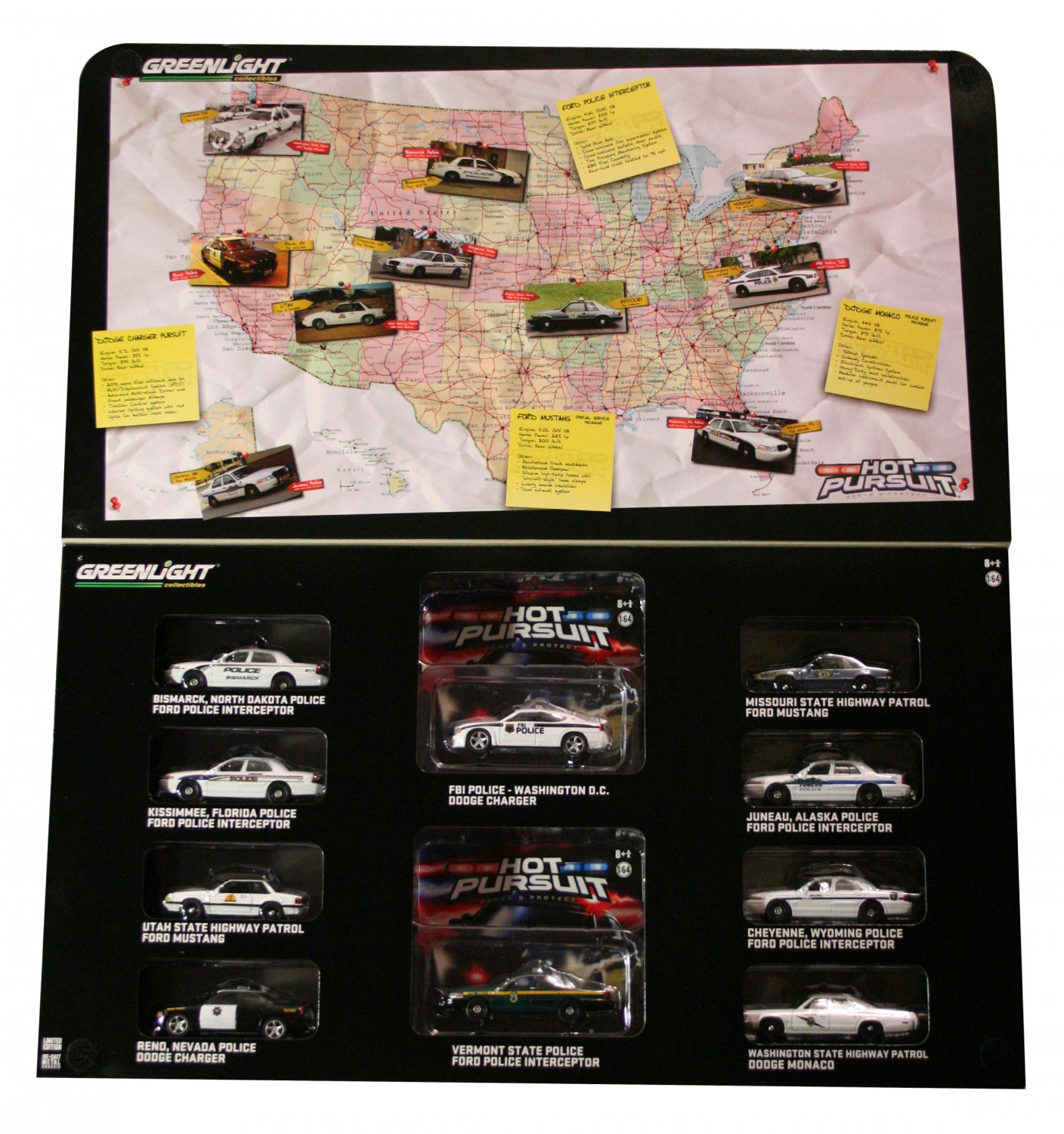 GreenLight Hot Pursuit 10-Car Collector Pack - Toys R Us Exclusive