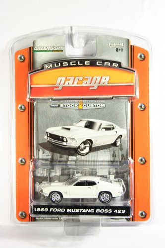 GreenLight 1969 Ford Mustang Boss 429 Muscle Car Garage Stock & Custom Series 1
