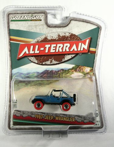 GreenLight 1987 Jeep Wrangler RED TIRE CHASE Target Exclusive
