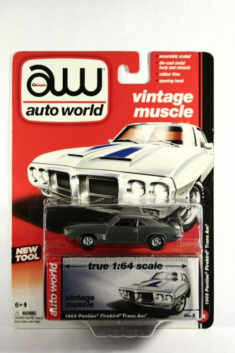 Auto World 1969 Pontiac Firebird T/A ULTRA RAW CHASE  - 1 OF 10 - RELEASE 1