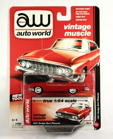Auto World 1:64 Scale 1961 Dodge Dart Phoenix - RED
