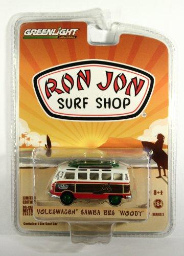 GreenLight GREEN MACHINE Volkswagen Samba Bus Woody Ron Jon Surf Shop Exclusive