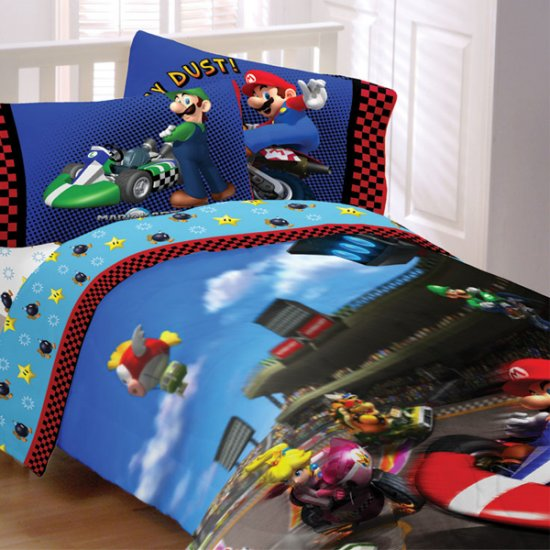 Super mario twin comforter and sheet set for Bedroom decor stores