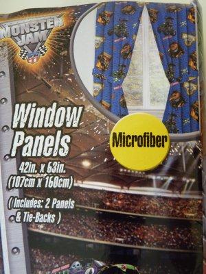 Monster Jam Window Curtains, Drapes