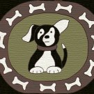 Puppy Dog Rug Hooking Pattern on Linen