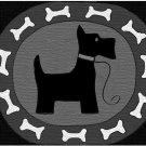 Scotty Dog Oval Rug Hooking Pattern on Linen