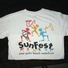 1997 Sunfest official t-shirt, size medium