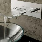 Contemporary Chrome Brass Single Hole Single Handle Sink basin Faucet waterfall glass spout 8210