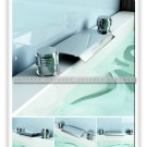 NEW**two hole Waterfall basin Faucet 8802 chrome finish