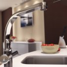 Contemporary Solid Brass Kitchen Faucet chrome finish JN84532