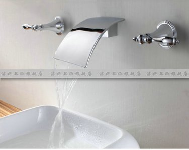 NEW**wall mount Waterfall basin Faucet 8822 chrome finish
