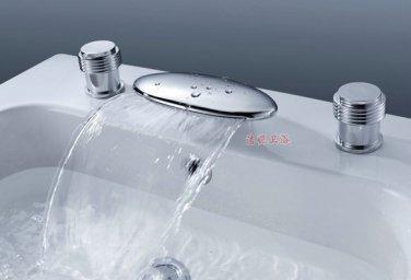NEW**deck mount Waterfall basin Faucet chrome finish JN7724Ac61