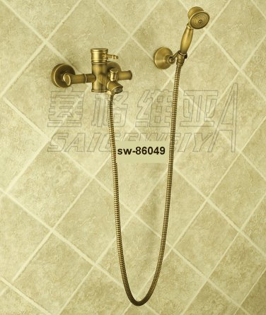 NEW** wall mount shower  Faucet antique brass finish sw-86049