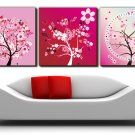 "12"" Modern Style Tree Wall Clock in Canvas 3pcs-8"