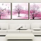 """12"""" Modern Style Tree Wall Clock in Canvas 3pcs-6"""