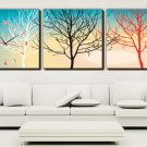 "12"" Modern Style Tree Wall Clock in Canvas 3pcs-4"