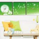 """12"""" Modern Style Dandelion Wall Clock in Canvas 3pcs"""