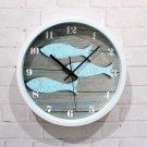 Blue Fish Design Wall Clock