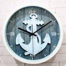 Mediterranean Style Anchor Design Wall Clock