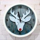 Modern Deer Pattern Modern Style Wall Clock