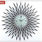 "31"" Modern Crystal Metal Wall Clock"