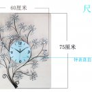 Diamond-Studded Tree Metal Wall Clock