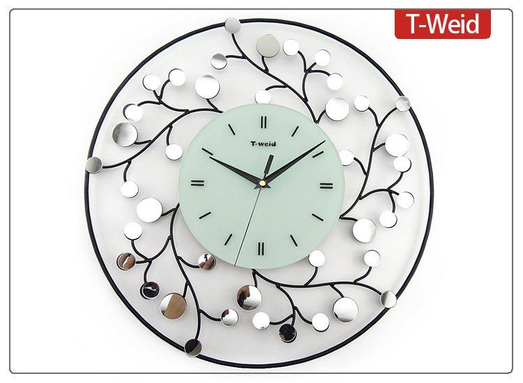 Stylish Floral Metal Wall Clock