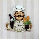 Chef Design Polyresin Wall Clock for Restaurant-2