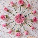 Rose Mute Wall Clock