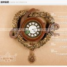 """26"""" Novelty Love Floral Polyresin Wall Clock"""