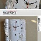 Retro Book Design Polyresin Wall Clock