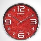 "12"" Modern Stainless Steel Wall Clock"