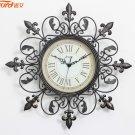 "18"" Euro Antique Metal Wall Clock"