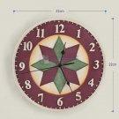 Geometric Pattern Polyresin Wall Clock