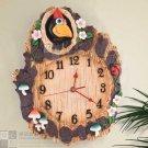 Pecker Design Polyresin Wall Clock