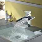 NEW Contemporary rainfall basin Faucet chrome finish MS08