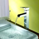 NEW Contemporary rainfall basin Faucet chrome finish MS09H