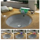 Contemporary Chrome Finish Waterfall Color Changing LED Bathroom Sink Faucet  LPT09