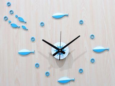 Modern Fish Design Acrylic Wall Clock