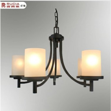 Iron Chandelier with 5 Lights in Antique Style-5