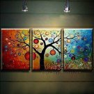 Hand-painted Abstract Oil Painting with Stretched Frame F8635