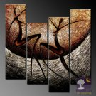 Hand-painted Abstract Oil Painting with Stretched Frame W5001