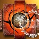 Hand-painted Abstract Oil Painting with Stretched Frame W5003B