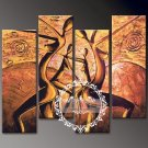 Hand-painted Abstract Oil Painting with Stretched Frame W5004