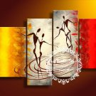 Hand-painted Abstract Oil Painting with Stretched Frame W5101
