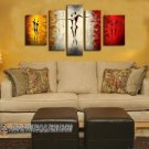 Hand-painted Abstract Oil Painting with Stretched Frame W5104