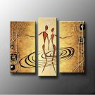 Hand-painted Abstract Oil Painting with Stretched Frame W5105A
