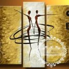 Hand-painted Abstract Oil Painting with Stretched Frame W5105B